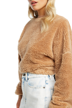 TEDDY JUMPER in colour PRALINE