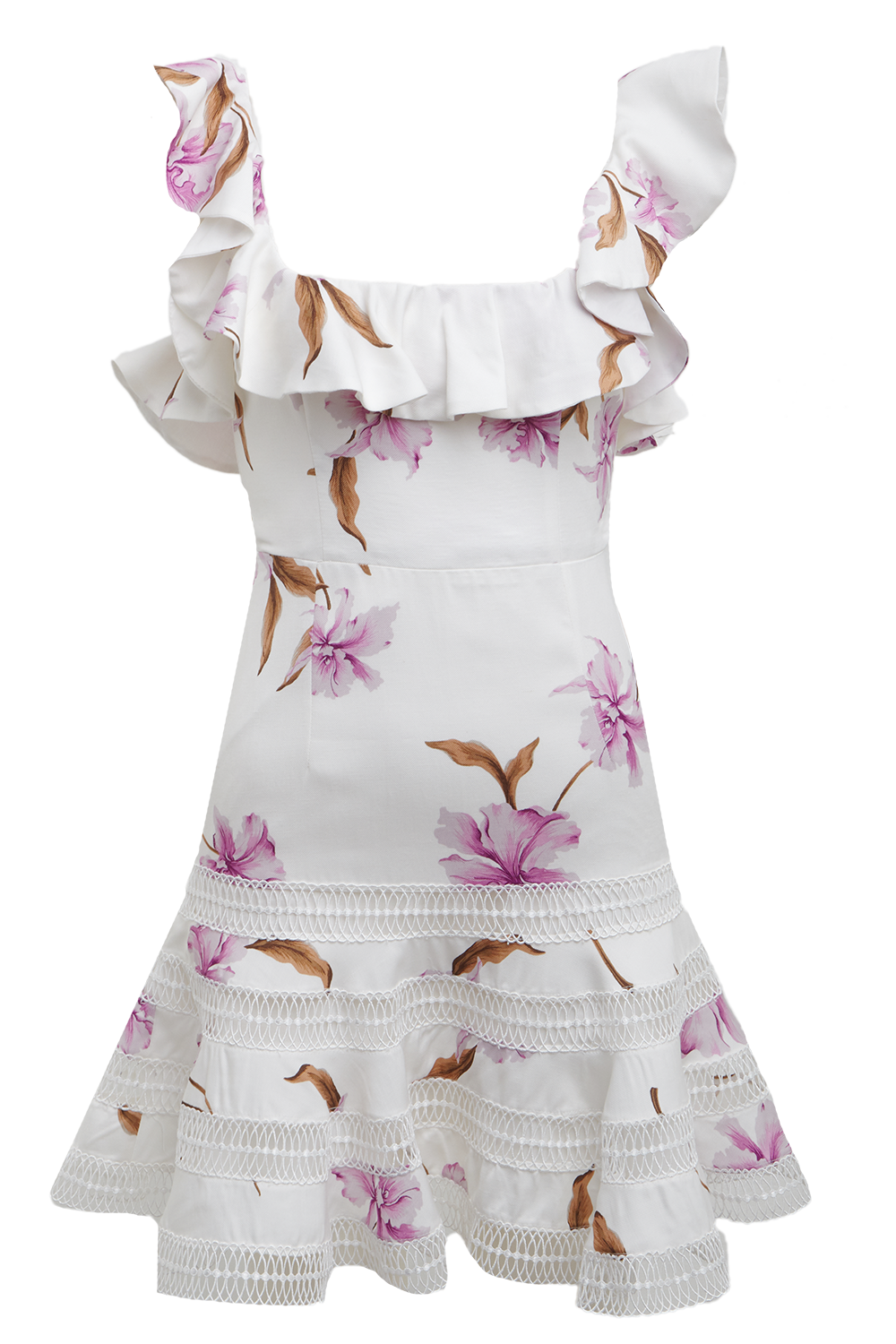 LESLIE FLORAL DRESS in colour BLANC DE BLANC