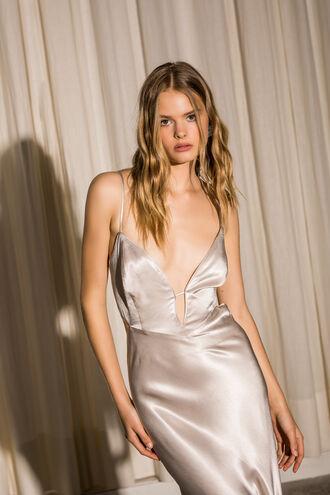 Karlotta Slip Dress in Silver