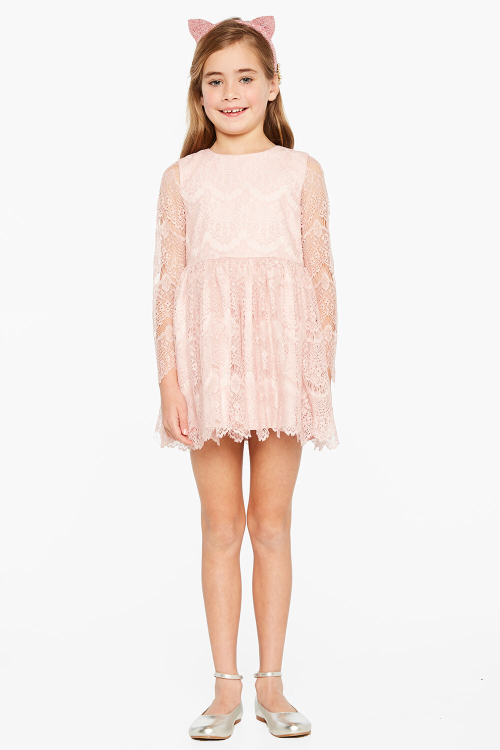 JUNIOR GIRL GERTRUDE LACE DRESS in colour TUSCANY