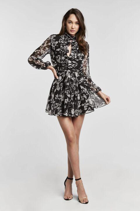 Nieve Mini Dress in Bnw Floral