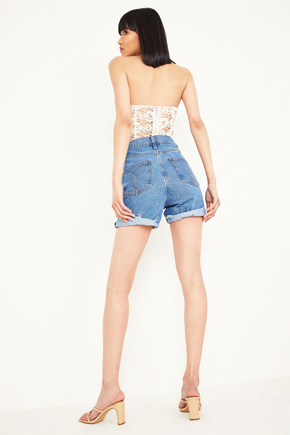 LACE CORSET BUSTIER in colour GRAY LILAC