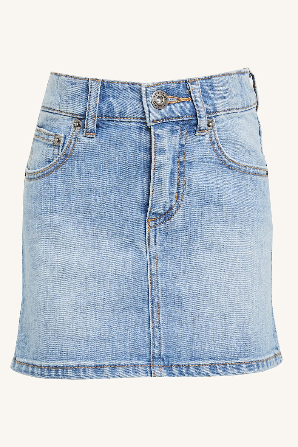 LIZA DENIM MINI SKIRT in colour TRUE NAVY