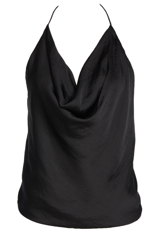 JACQUI HALTER TOP in colour CAVIAR