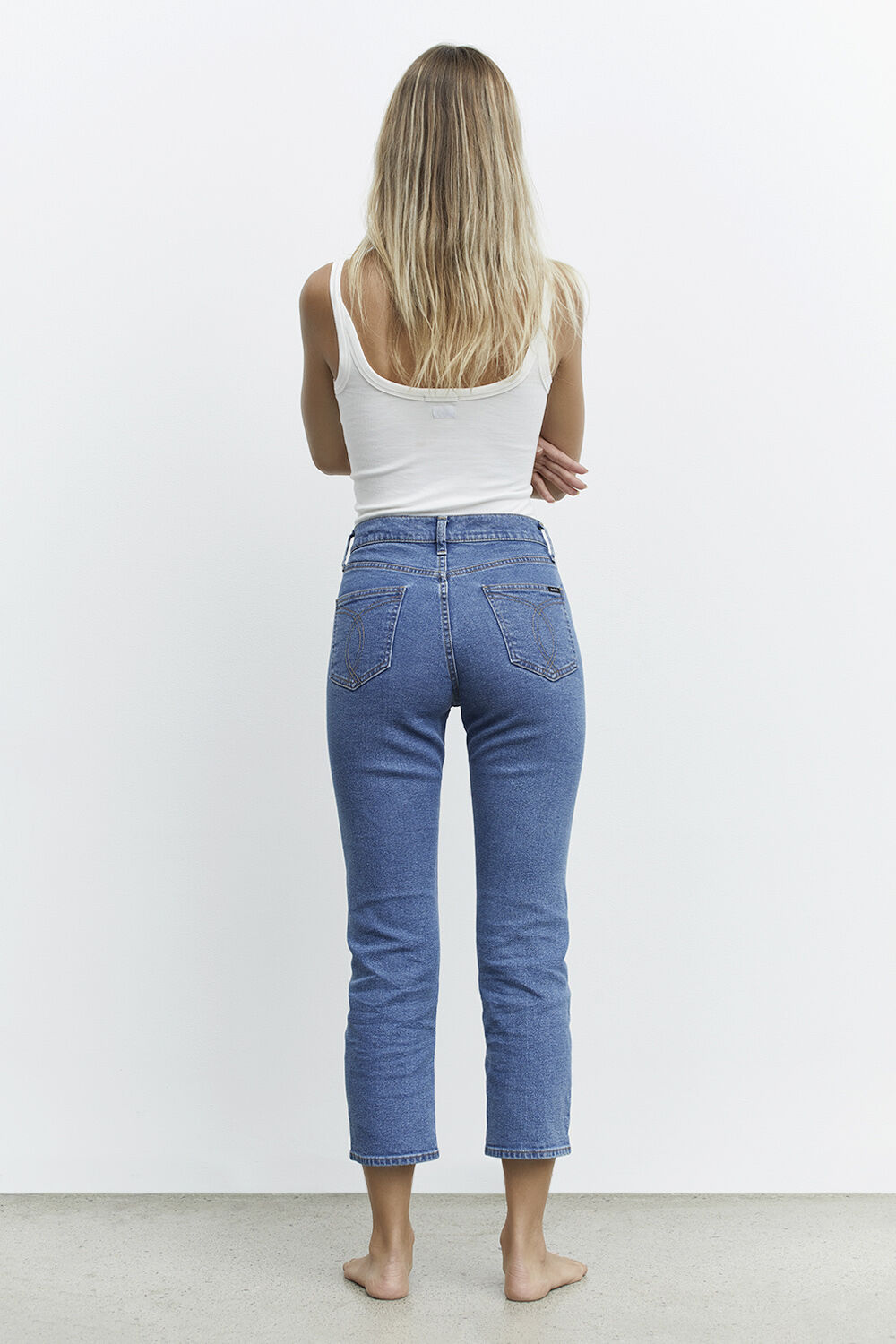 PETRA STRAIGHT JEAN  in colour TRUE NAVY