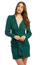 VIKTORIA DRESS in colour DARK GREEN