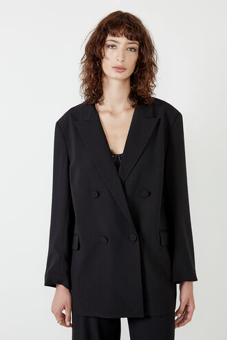 THE OVER SIZED BLAZER in colour CAVIAR
