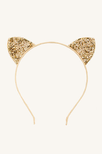 GOLD KITTY EARS in colour GOLD EARTH
