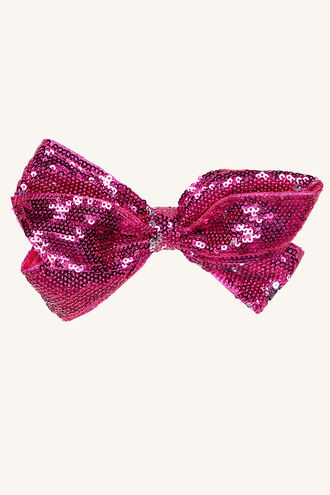 SEQUIN BOW in colour VEILED ROSE