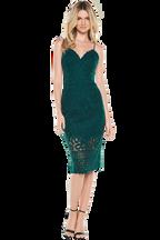 GIA LACE DRESS in colour JASPER