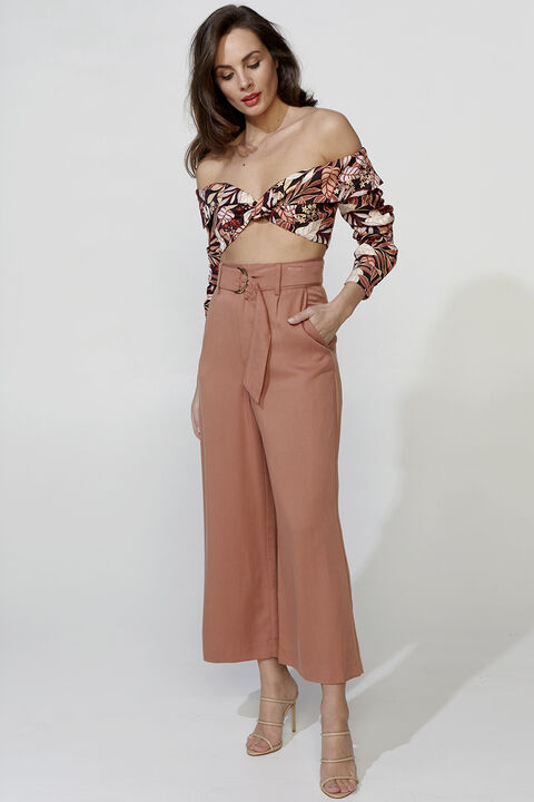 ARIEL TOP in colour DUSTY ROSE