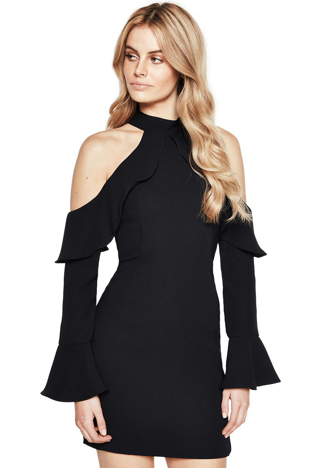 NIGHTSHADE DRESS in colour CAVIAR
