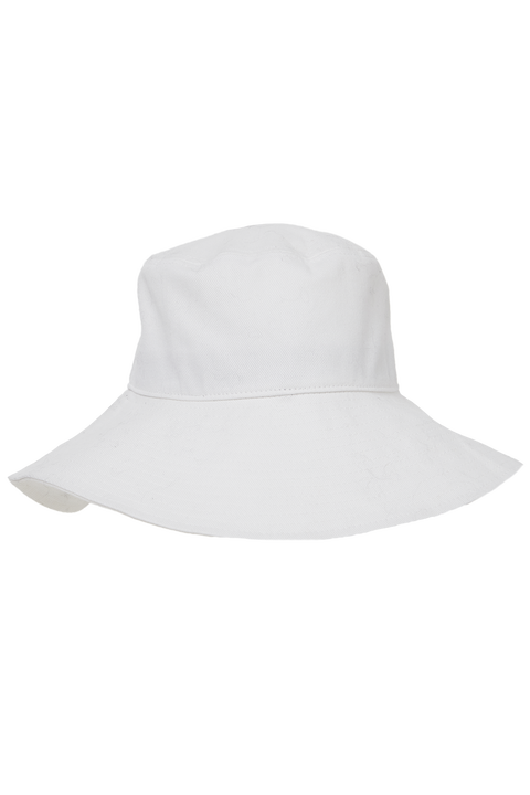 WIDE BRIM BUCKET HAT in colour CLOUD DANCER
