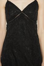 LOLA DRESS in colour CAVIAR