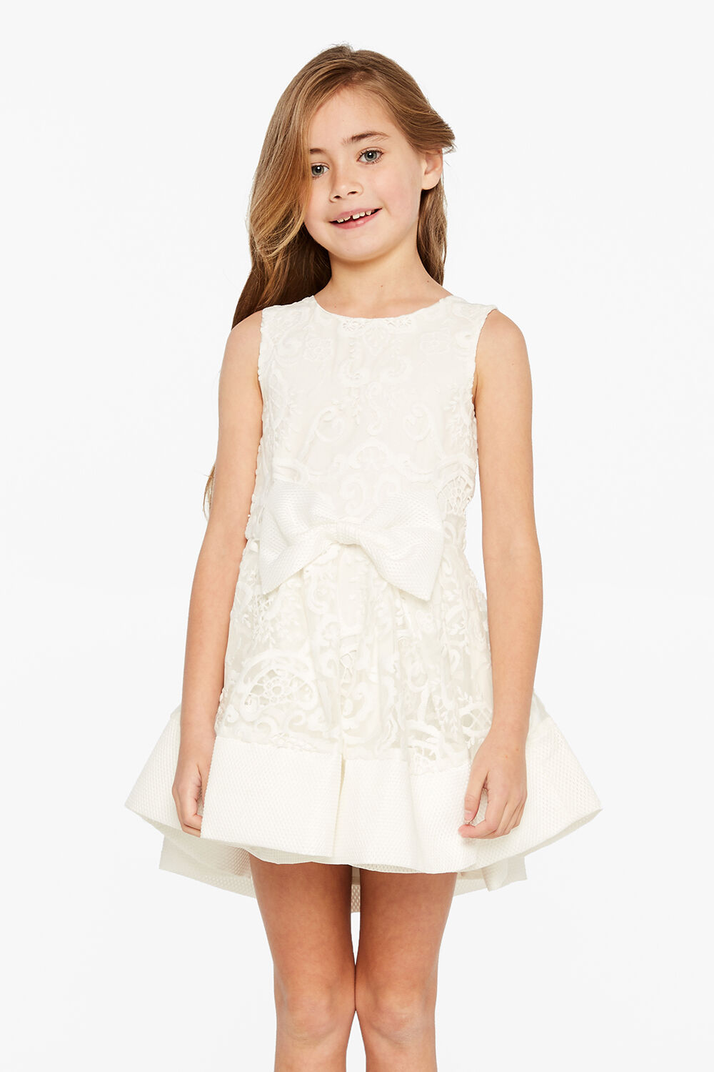 JUNIOR GIRL AVA STARLET DRESS in colour SNOW WHITE