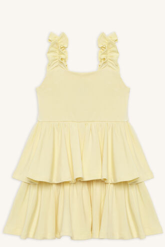 LIYA LAYER DRESS in colour PASTEL YELLOW