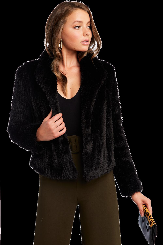 f7967e3d3f94 Rabbit Faux Fur Jacket | Ladies Clothing & Jackets & Coats | Bardot