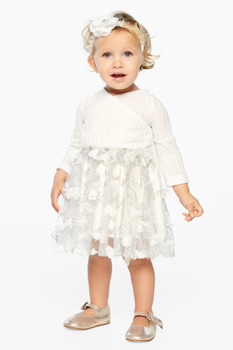 WRAP TUTU DRESS in colour CLOUD DANCER