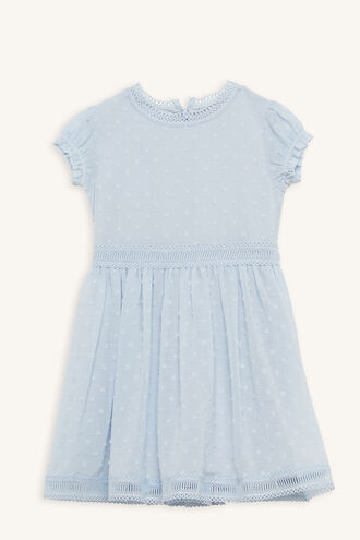 TEA PARTY DRESS in colour PEARL BLUE