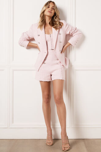 CIARA STRIPE BLAZER in colour PETAL PINK