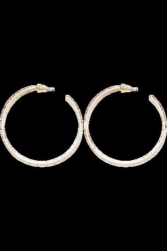 FLAT HOOP EARRINGS in colour GOLD EARTH