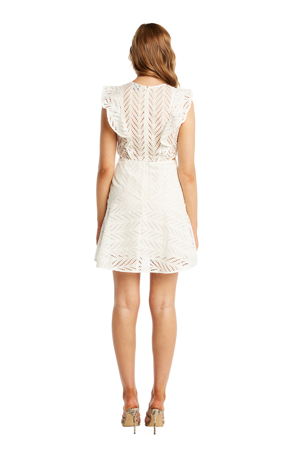 KIRA FRILL DRESS in colour CLOUD DANCER