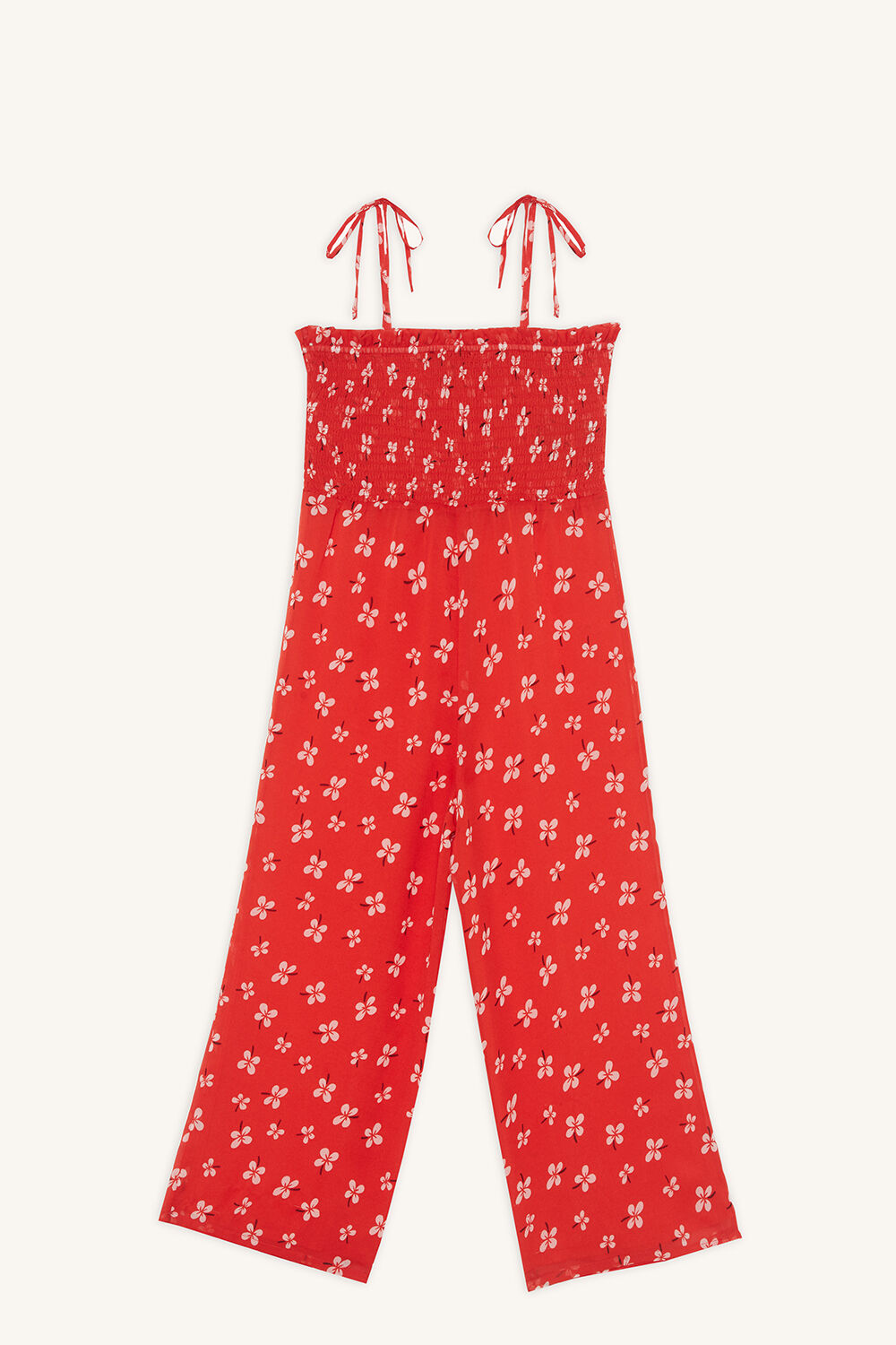 ALI SHIRRED JUMPSUIT in colour LOLLIPOP