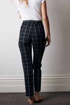LONDON CHECK PANT in colour CAVIAR
