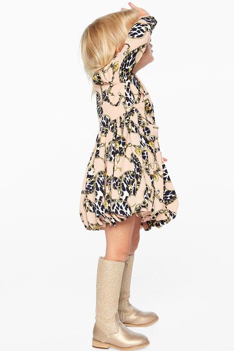 BETTE BUBBLE HEM DRESS in colour PEACH BLUSH