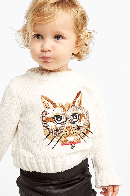 CAT EYES KNIT JUMPER in colour WHISPER WHITE