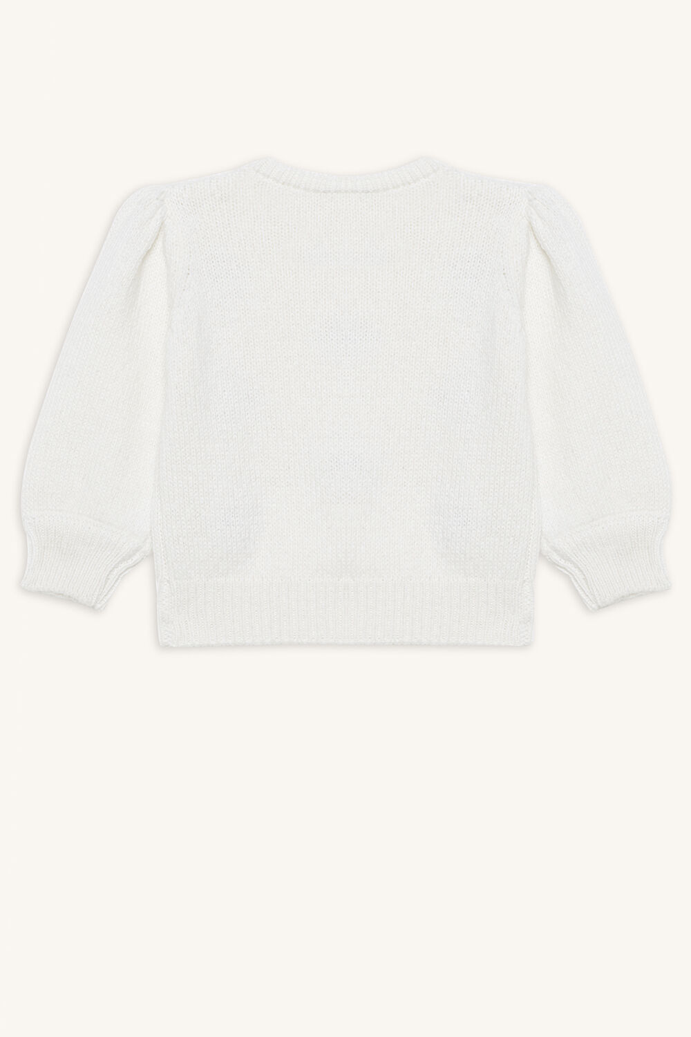 SPOT POM POM SWEATER in colour GARDENIA