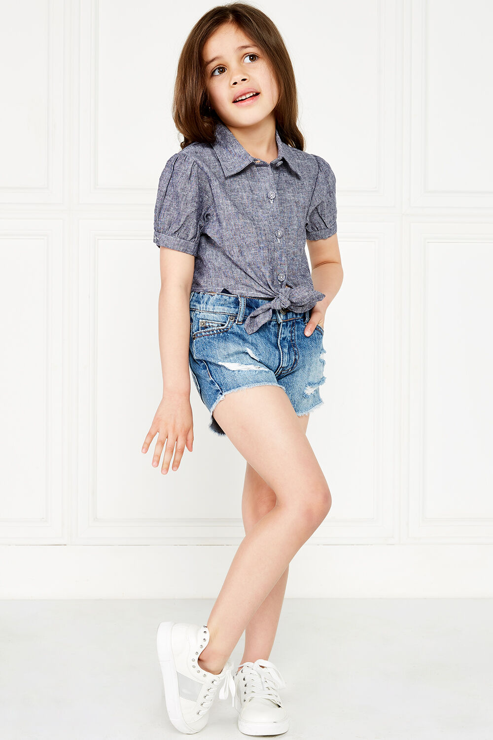 ESTHER TIE SHIRT in colour MARITIME BLUE