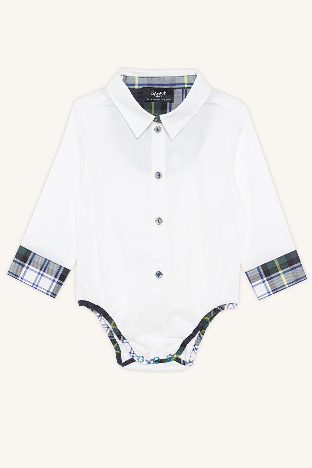 TARTAN SHIRT GROW in colour BRIGHT WHITE