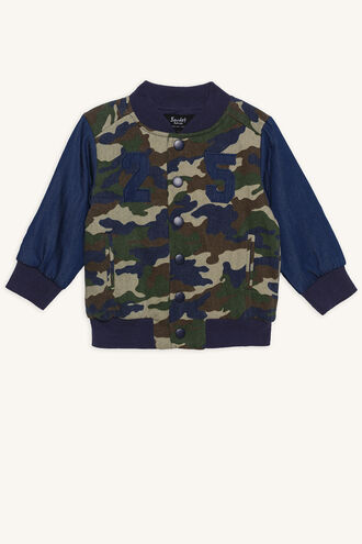 ORLANDO VARSITY JACKET in colour DRESS BLUES