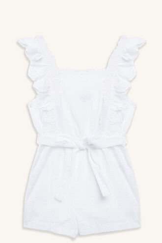 CINDY PLAYSUIT in colour BRIGHT WHITE