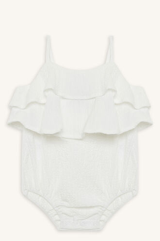 BUBBLE ROMPER in colour BRIGHT WHITE