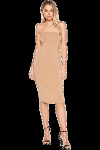SONIA DRESS in colour PRALINE