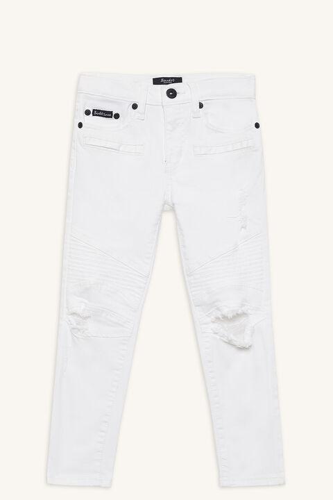 OLI ZIP JEAN in colour BRIGHT WHITE