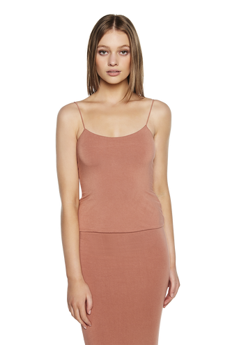 OLYMPIA TOP in colour COPPER BROWN