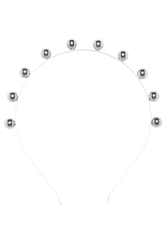 BALL BALL HEADBAND in colour SILVER