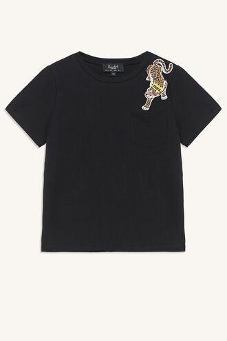 LEOPARD PRINCE TEE in colour BLACK IRIS