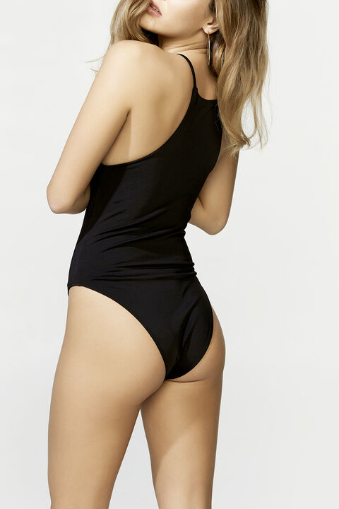 RACER BODYSUIT in colour CAVIAR