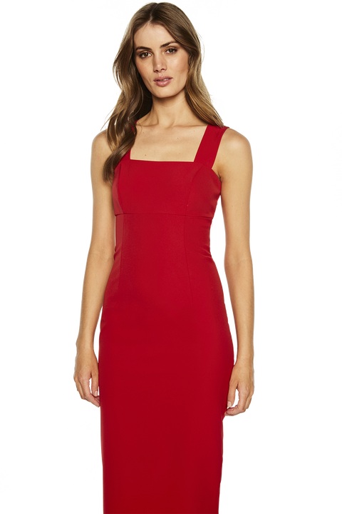 CLEO DRESS in colour RIBBON RED