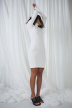 TAHANI KNIT DRESS in colour CLOUD DANCER