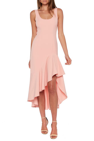 ESTHER FRILL DRESS in colour BELLINI