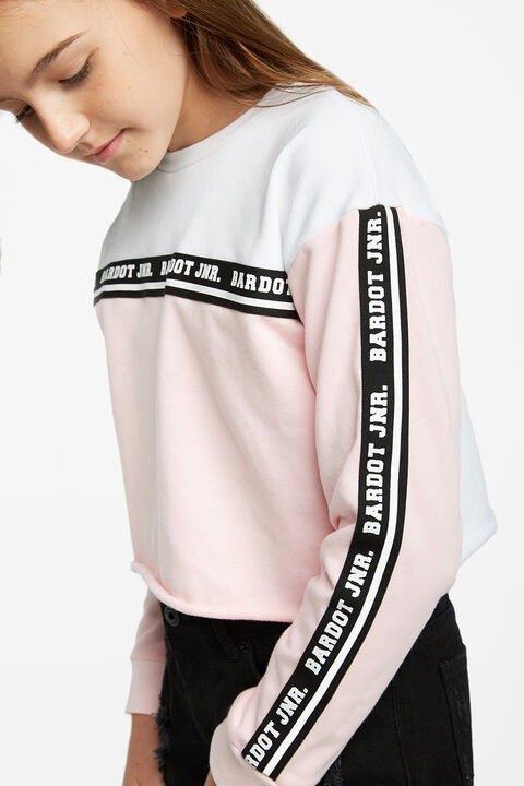 CROPPED SWEAT TOP in colour CLOUD DANCER