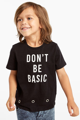DON'T BE BASIC TEE in colour JET BLACK