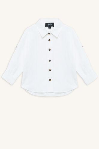 LINEN BEACH SHIRT in colour BRIGHT WHITE