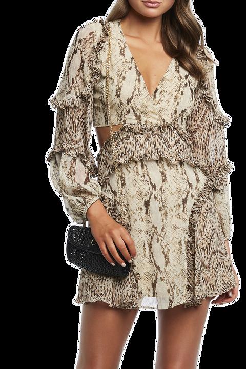 SPLICE LEOPARD DRESS in colour CAVIAR