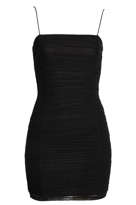 TAMMY MESH DRESS in colour CAVIAR